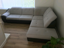 Large corner sofa bed with storage grey like new