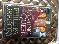 Philippa Gregory (author) THE TAMING OF THE QUEEN book signed by author