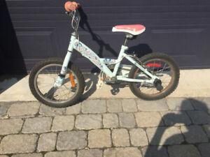 Vélo pour fillette Louis Garneau avec ou sans petites roues