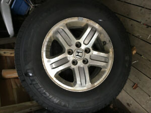 WINTER TIRES ON RIMS