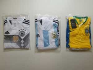 2018  Germany, Argentina, Brazil world cup jerseys (KIDS SIZES)
