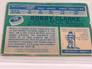 Bobby Clarke O-Pee Chee 1976 Center Flyers 1st Team All Star Car Kitchener / Waterloo Kitchener Area image 4