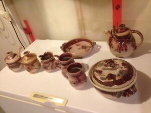 Beautiful Pottery Set For Sale