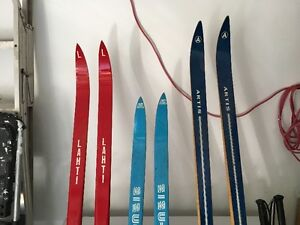 Vintage top of the line skis and poles