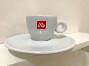0 sets - sold out - Illy Logo 3oz Espresso Cups & Plates