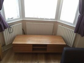Media Unit - TV Stand - Solid Oak with shelves and cupboard storage