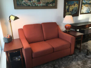 REDUCED Loveseat w/ottoman 6 months old