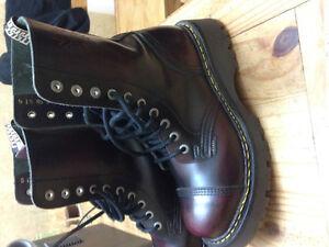 steel toe punk boots