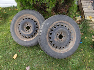 """17"""" Studded Winter Tires and Rims"""