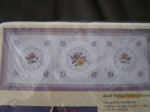 Creative Circle Pansy Table Runner