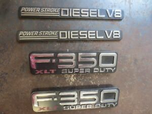 Ford 350 emblems and hubcap