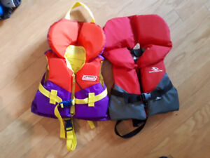 Infant life jacket 20-30 pounds stored inside...like new!