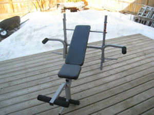 INCLINE/FLAT WEIGHT BENCH with Leg Attachment and Fly (Chest) De