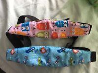 Head support belts