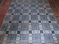Hand woven wool coverlet
