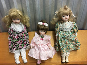 3 vintage dolls all in excellent condition