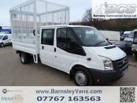 2011 11 FORD TRANSIT T350 115PS CREW CAB CAGED TIPPER EX COUNCIL DOUBLE CAB