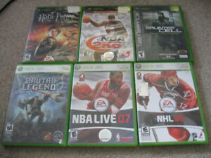 XBOX and XBOX 360 games-$4 each