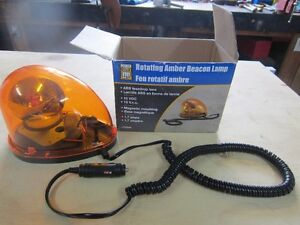 EMERGENCY ROTATEING AMBER BEACON LAMP