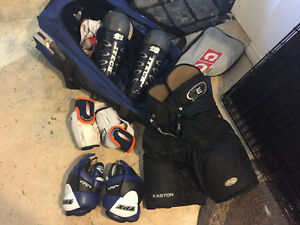 Hockey equipment and bag