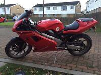 Cagiva mito 125 , full mot , full power sports bike mini Ducati . (Not rs 125)