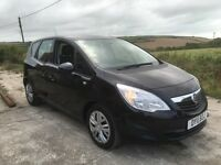 VAUXHALL MERIVA EXCLUSIVE 1.4 TURBO 138 BLACK 2011 LOW MILES
