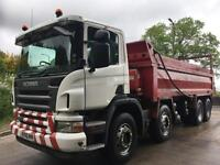 2010 60 Scania P340 8x4 Thompson steel tipper, weigher, sheet
