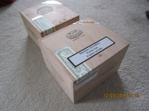 2  All Cedar Wood Cigar  Boxes from Cuba for storing items.