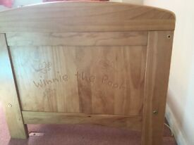Solid pine Winnie the Pooh cot bed