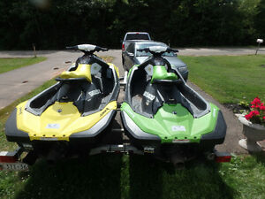 Two 2016 Sea Doo Sparks With Trailer