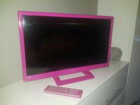 24 inch ALBA pink TV / DVD combi television