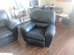 Leather recliner couches