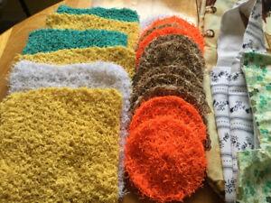 Scrubbies , dish cloths , & shopping bags