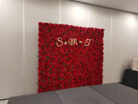 Marquee letters and flower wall brampton