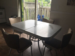 Vintage dinner table and chairs