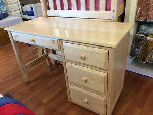 Solid Birch Studen Desk - Natural - By Bunk Beds Canada