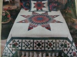 Brand New Lonestar Flannel Patchwork Quilt w/2 Shams