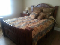 3 pc 'Ashley' Queen Bed Set (Mattress and box spring included)