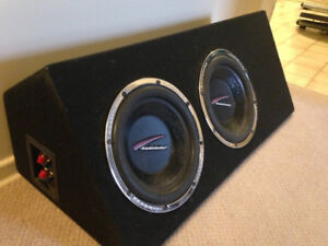 """2 10"""" Audiobahn Subwoofers Boxed"""