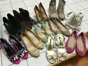 Lot of women's size 8-8.5 boots/shoes