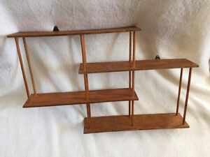 Hand crafted 4 staggered-tiered shelf