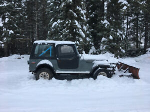 1974 Jeep Wrangler GR 2door)with snow plow