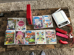 Wii console. Games. Controllers. Draw tablet