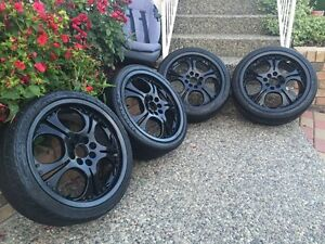 4x100 & 4x114.3 rims and tires 205/40/17