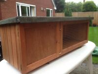 Rabbit Hutch, 5 ft long, as new.