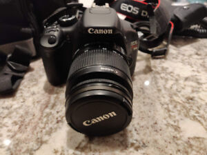 Canon t2i + 18-55 lens and a lot of accessories