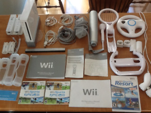 Nintendo Wii Console and Acc.