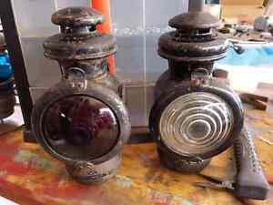 Vintage CNR coach lamps