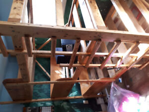 FREE lovely wooden triple bunk bed