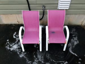 Two Kids size Deck Chairs